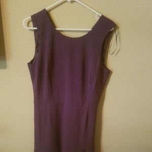 Covington Purple Sleeveless Short Casual Dress
